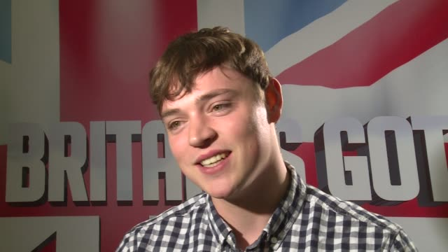 vídeos de stock, filmes e b-roll de britain's got talent finalist interviews craig ball interview sot / beau dermott interview sot - finalist