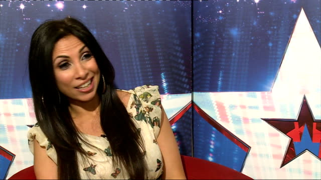 'britain's got talent': richard and adam johnson and francine lewis interviews; francine lewis interview sot - includes impressions of nicole... - britain's got talent stock-videos und b-roll-filmmaterial