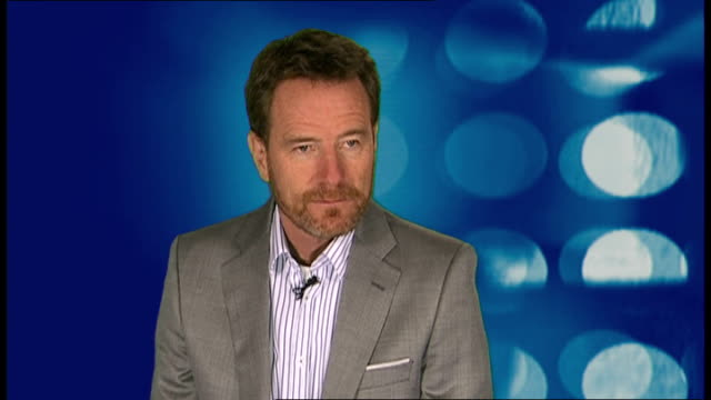 vídeos de stock, filmes e b-roll de bryan cranston interview england london int bryan cranston interview sot discusses his role in us television series 'breaking bad' his character... - george lucas