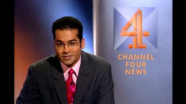 channel 4 news 25th anniversary; england: london: zeinab badawi presenting channel 4 news nicholas owen presenting channel 4 news krishnan... - peter snow stock videos & royalty-free footage