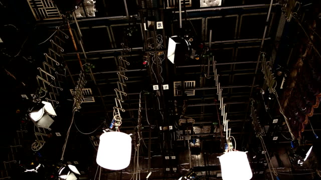 Television commercial production set - Recording TV shows