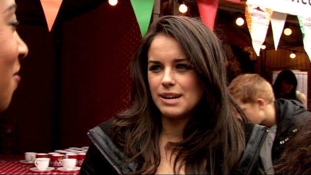 coronation street 50th anniversary party gvs and interviews georgia may foote michelle keegan and sacha parkinson interview continues sot on helen... - ソープオペラ点の映像素材/bロール