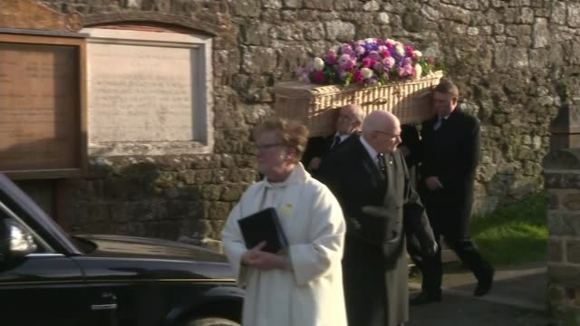 dame june whitfield's funeral attended by 'absolutely fabulous' costars england west sussex tillington all hallows church ext dame june whitfield's... - jennifer saunders stock videos & royalty-free footage