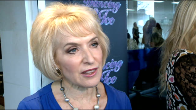 'dancing on ice 2012' launch celebrity interviews rosemary conley interview continues sot on being delighted jason gardiner won't be on the panel... - 胴体点の映像素材/bロール