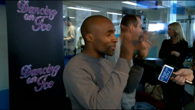 'dancing on ice 2012' launch celebrity interviews sebastien foucan speaking to press sot sebastien foucan interview sot on how training has been... - casino royale stock videos & royalty-free footage