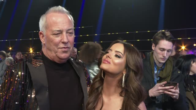 dancing on ice 2020 launch event england london 'dancing on ice 2020' launch event int michael barrymore and maura higgins red carpet interview sot - michael barrymore stock videos & royalty-free footage