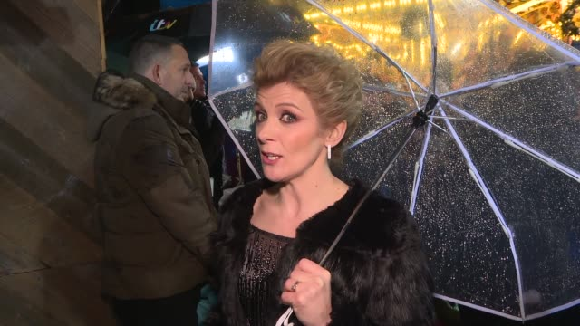 'dancing on ice' press launch red carpet interviews england london south kensington natural history museum didi conn with fans jane danson interview... - jane danson stock videos and b-roll footage
