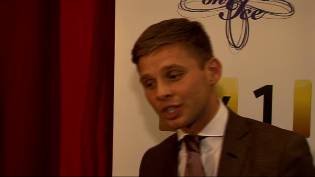'dancing on ice' preview celebrity contestant interviews england london int jeff brazier interview sot on training / injuries so far / it's a... - lycra stock-videos und b-roll-filmmaterial