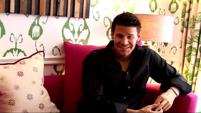 David Boreanaz interview David Boreanaz interview continues SOT whether he is like his character in real life they both wear Paul Smith socks / how...