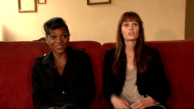 vídeos de stock, filmes e b-roll de 'dirty sexy things' show england london int jessye b and charlotte from reality tv series 'dirty sexy things' interview sot dpt different to normal... - model t