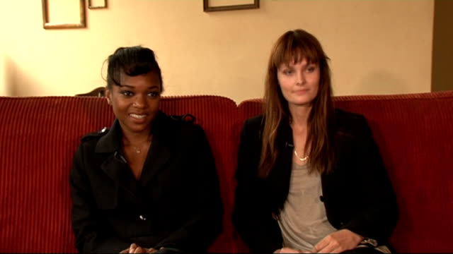 'Dirty Sexy Things' show Jessye B and Charlotte interview continued SOT They talks about what they think of photographer Porou both got very...