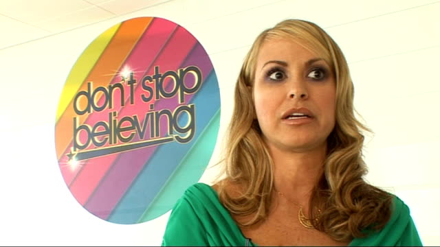 'don't stop believing' talent show launch interviews with celebrity host and judges anastacia interview continues sot recalls an embarrassing... - navel stock videos & royalty-free footage