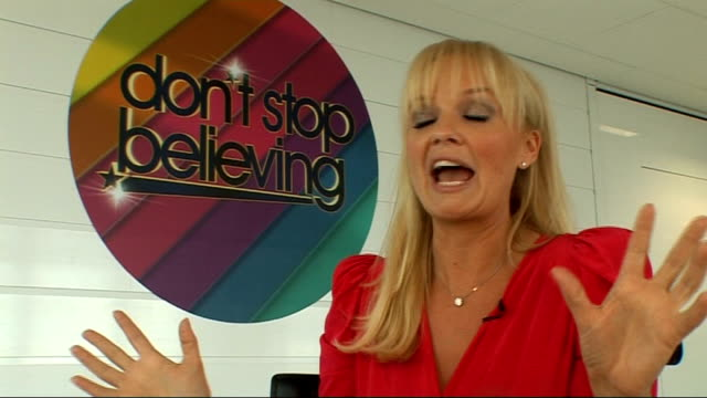 'Don't Stop Believing' talent show launch interviews with celebrity host and judges Emma Bunton interview SOT On being excited about the show / being...