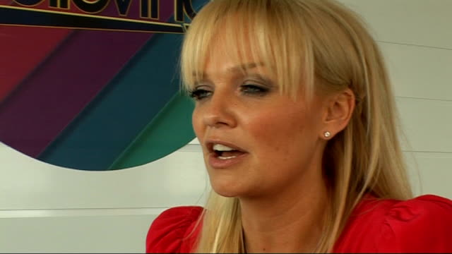 'Don't Stop Believing' talent show launch interviews with celebrity host and judges Emma Bunton interview continues SOT On Cheryl Cole / being a...