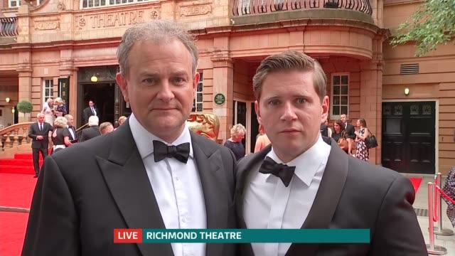 Downton Abbey presented with special BAFTA award ENGLAND London GIR INT Hugh Bonneville and Allen Leech LIVE 2WAY interview from Richmond Theatre SOT