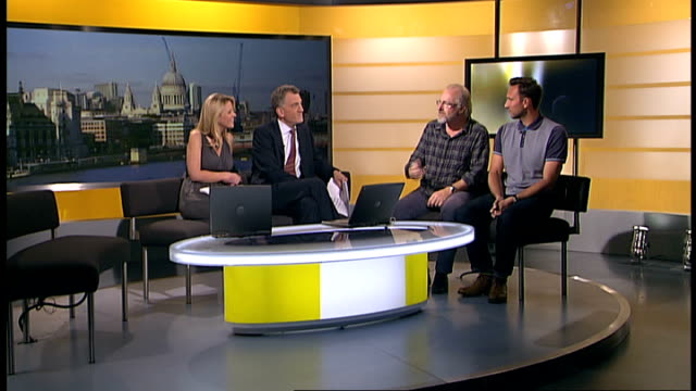 final episode of 'The Bill' ENGLAND London GIR INT Simon Rouse and Alex Walkinshaw LIVE STUDIO interviews SOT On filming the last episode On The Bill...