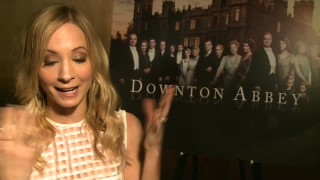 Final series of Downton Abbey to air ENGLAND INT Joanne Froggatt interview SOT