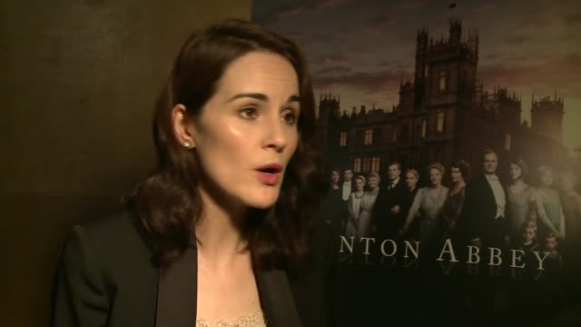 final series of downton abbey to air; michelle dockery interview sot downton abbey poster julian fellowes interview sot - julian fellowes stock videos & royalty-free footage