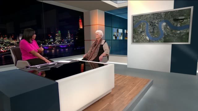 former eastender actor pam st clement releases autobiography; england: london: gir: int pam st clement studio interview sot - autobiography stock videos & royalty-free footage