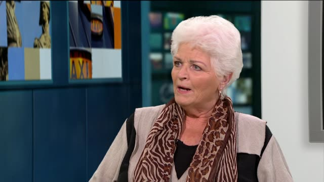 former eastender actor pam st clement releases autobiography pam st clement studio interview sot - biographie stock-videos und b-roll-filmmaterial