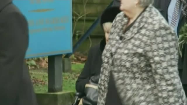 Funeral of 'Coronation Street' actress Liz Dawn LIB / T27111219 Manchester AshtonunderLyne Albion United Reformed Church EXT Liz Dawn along in...