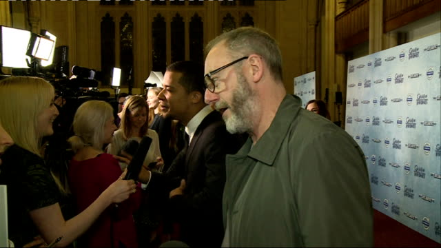 'game of thrones' season 4 london premiere more of cunningham as interviewed on red carpet sot - season 4 stock videos and b-roll footage