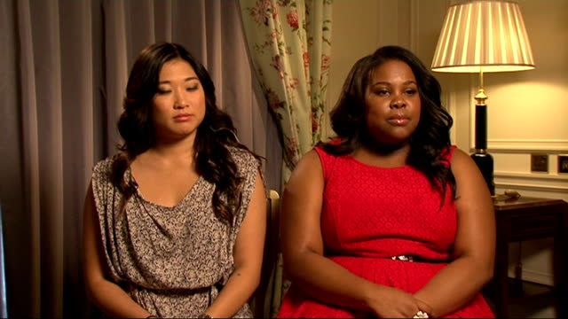 'Glee' cast interviews Jenna Ushkowitz and Amber Riley interview SOT On their characters and potential love interests / favourite songs they've...