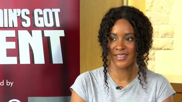 grenfell tower fire survivor leanne mya to compete in 'britain's got talent' semifinal england int leanna mya set up shots with reporter / interview... - britain's got talent stock videos & royalty-free footage