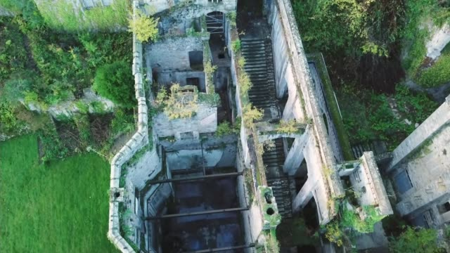 'i'm a celebrity get me out of here' to be set at gwrych castle in wales wales drone footage of gwrych castle where the latest series of 'i'm a... - i'm a celebrity... get me out of here stock videos & royalty-free footage