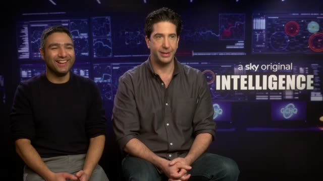 'intelligence' junket interview; england: london: int nick mohammed and david schwimmer interview continued sot - re new sitcom, 'intelligence' - intelligence stock videos & royalty-free footage