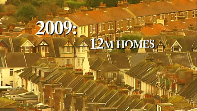 ITV announces payTV strategy EXT **Coronation Street theme tune overlaid SOT** Rows of houses in residential area with text overlaid ENDS
