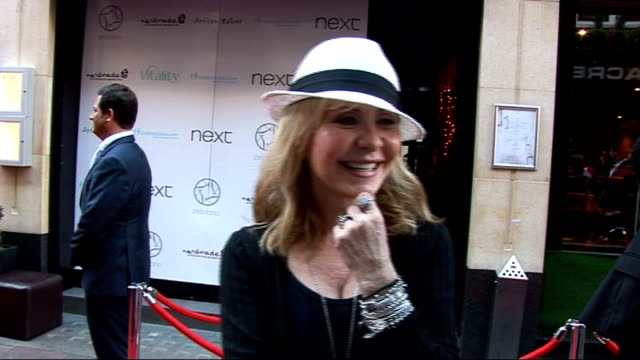 Jackie Brambles 'Loose Women' leaving party celebrity arrivals Lulu speaking with Jackie Bramble as arrives for party / Lulu interview SOT Everyone...
