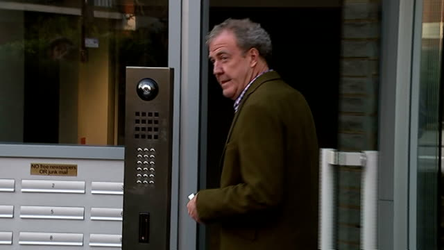 jeremy clarkson appears to suggest he may not return to 'top gear' ext clarkson entering building pan photographers - jeremy clarkson stock videos & royalty-free footage