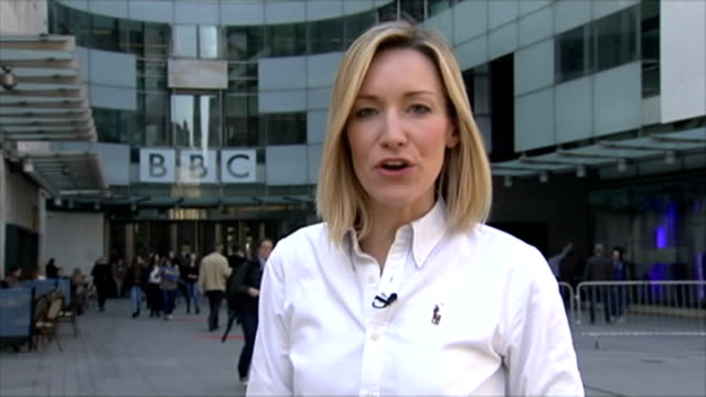 jeremy clarkson 'rant' as he awaits decision from bbc over 'fracas' incident london new broadcasting house ext reporter to camera - jeremy clarkson stock-videos und b-roll-filmmaterial