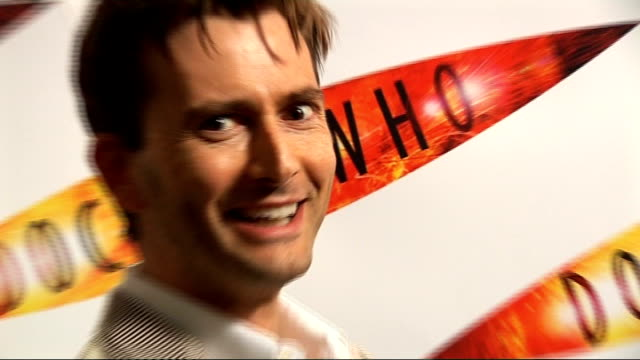 "launch of second dr who special; england: london: int david tennant posing for photocall at launch of second dr who special programme ""the waters of... - doctor who stock videos & royalty-free footage"