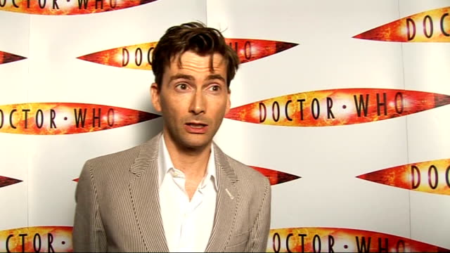 launch of second dr who special; - talks of filming the final scenes / talks of where his career is going russell t davies interview sot - talks of... - ドクター フー点の映像素材/bロール