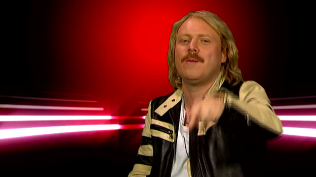 leigh francis interview; leigh francis interview continued sot - his new alter ego - xtreme, who he is - pringles - new flavours etc - how he stays... - the x factor stock videos & royalty-free footage
