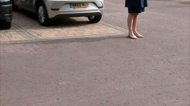 Liz Dawn funeral More Coronation Street cast arrivals including Bruce Jones Ken Morley Helen Worth and Sean Wilson / Different angle of Coronation...