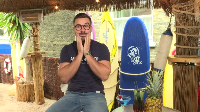 love island 2018: alex miller interview; england: int alex miller interview sot. - love island games: most likely to… from all the islanders, who is... - television game show video stock e b–roll