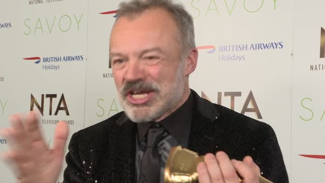National Television Awards 2017 winners' room Television National Television Awards 2017 winners' room Graham Norton interview SOT / Martin Roberts...