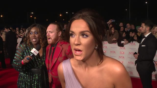 National Television Awards 2018 Red carpet and winners' room GVs red carpet / Pete Wicks interview SOT / Vicky Pattison interview SOT / GVs of Keith...