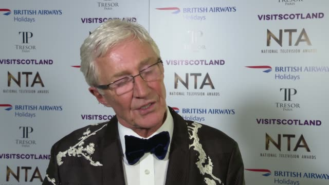 national television awards 2019 red carpet and winner's room interviews england london greenwich the o2 arena int paul o'grady interview sot / - paul o'grady stock-videos und b-roll-filmmaterial