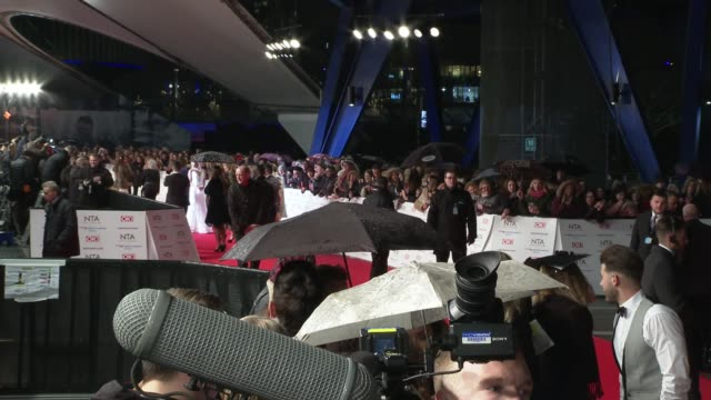 national television awards 2019 red carpet arrivals england london the o2 arena jordan banjo perri kiely and ashley banjo speaking to press / wide... - john barrowman stock videos and b-roll footage
