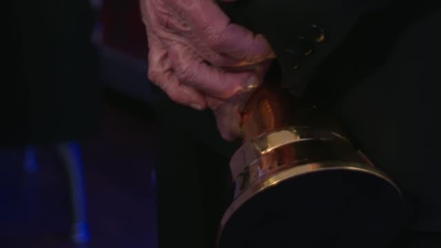 national television awards 2020: winner's room interviews; england: london: greenwich: o2 arena: int sir michael palin interview sot / palin... - マイケル パリン点の映像素材/bロール