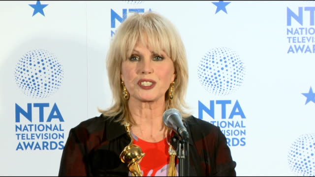 national television awards joanna lumley photocall and interview sot special recognition award - joanna lumley stock videos & royalty-free footage