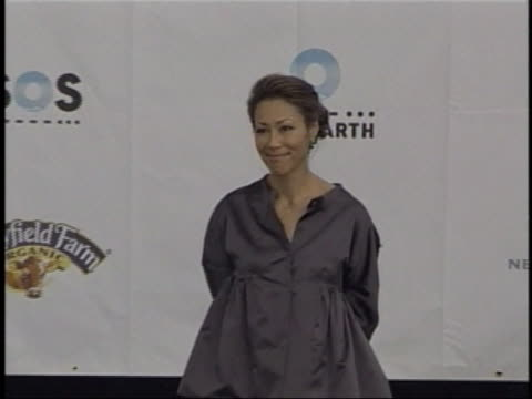 television news anchor ann curry appears onstage at a live earth concert rehearsal. - ann curry stock videos & royalty-free footage