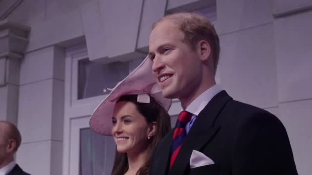 television personality georgia toffolo helps madame tussauds unveil a new royal exhibit ahead of a busy year for the royal family madame tussauds'... - madame tussauds stock videos & royalty-free footage