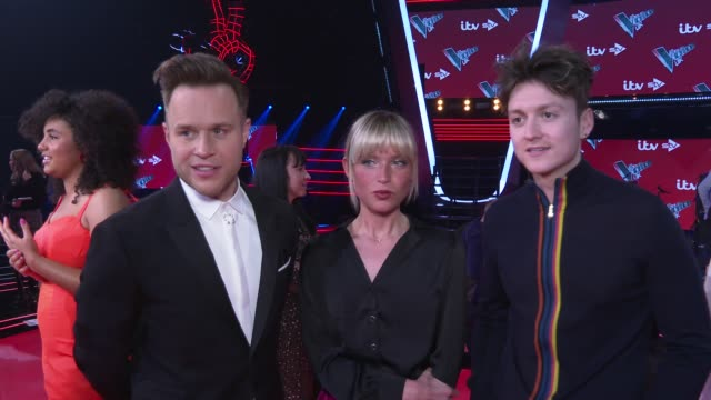 'The Voice UK' finals red carpet preview UK London The Voice UK 2019 finals press event red carpet arrivals and interviews ENGLAND London INT Olly...