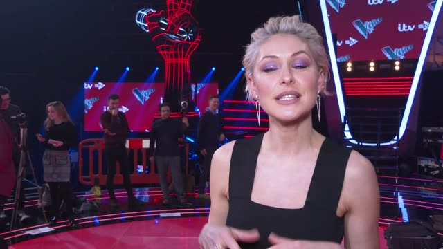 'The Voice UK' finals red carpet preview UK London The Voice UK 2019 finals press event red carpet arrivals and interviews ENGLAND London INT Emma...