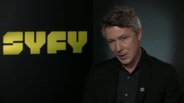 project blue book aidan gillen interview england london int aidan gillen interview continued re 'project blue book' drama series sot - aidan gillen stock videos & royalty-free footage